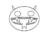 Disegno di Faccia del diavolo da colorare