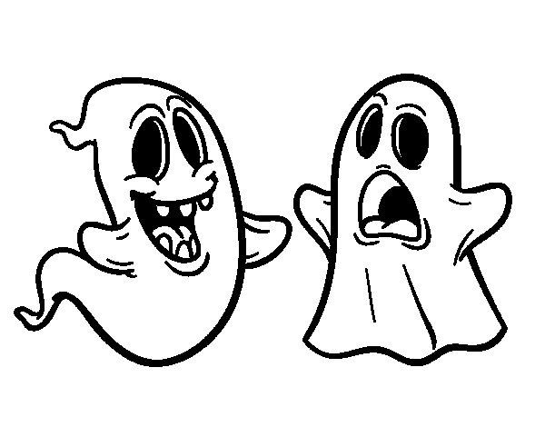 disegno di fantasmi da colorare