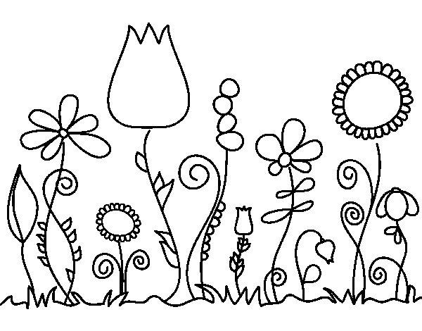 Disegno di fiori di bosco da colorare - Libri da colorare di fiori ...