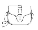 Disegno di Flap Bag da colorare