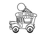 Disegno di Food truck dei gelati da colorare