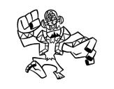 Disegno di Frankenstein malvagio da colorare