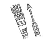 Disegno di Frecce indiane da colorare