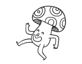 Disegno di Fungo felice da colorare