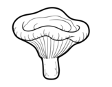 Disegno di Fungo paxillus involutus da colorare