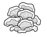 Disegno di Fungo pleurotus da colorare