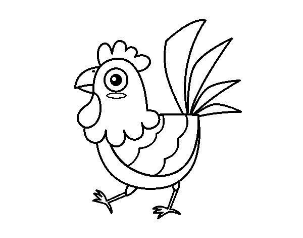 Disegno di gallina della fattoria da colorare for Piani di riproduzione della fattoria