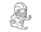Disegno di Giocatore di football americano da colorare