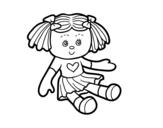 Disegno di Giocattolo bambola da colorare