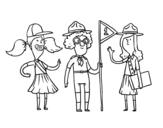 Disegno di Girl Scouts da colorare