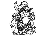 Disegno di Guerriero cinese Guan Yu da colorare