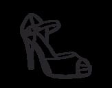 Disegno di Heel slingback da colorare