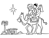Disegno di I tre Re Magi da colorare