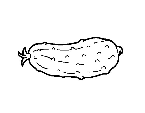 Disegno di Il cetriolo da Colorare
