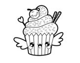 Dibujo de Il cupcake kawaii