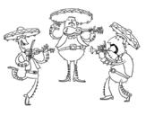 Disegno di Ils Mariachis da colorare