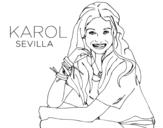 Disegno di Karol Sevilla di Soy Luna da colorare