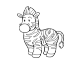 Disegno di La  zebra da colorare