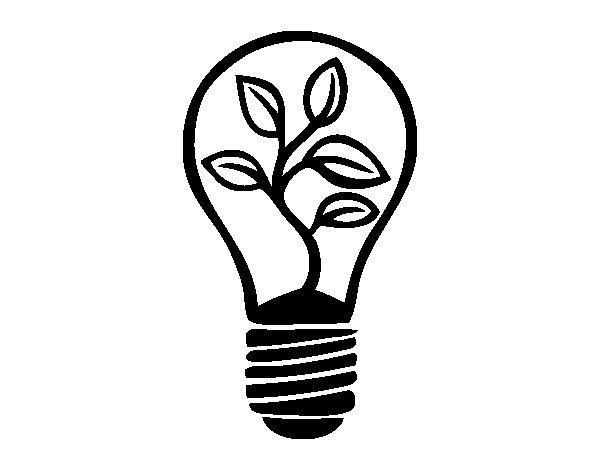 Disegno di Lampadina ecologica da Colorare - Acolore.com