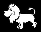 Disegno di Leone di profilo da colorare