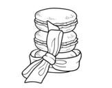 Disegno di Macarons da colorare