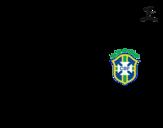 Disegno di Maglia dei mondiali di calcio 2014 del Brasile da colorare