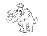 Dibujo de Mammuth preistorico