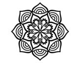 Disegno di Mandala Crescita esponenziale da colorare