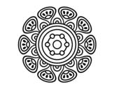 Disegno di Mandala Crescita vegetale da colorare