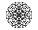 Disegno di Mandala crop circle da colorare
