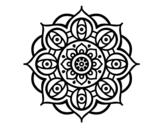 Disegno di Mandala dagli occhi da colorare