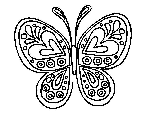 Disegno di mandala farfalla da colorare for Disegni di mandala semplici