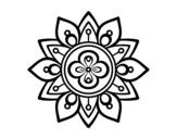 Disegno di Mandala fior di loto da colorare