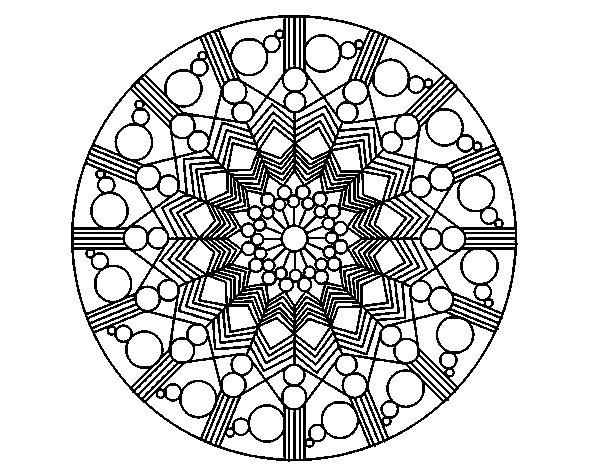 Disegno Fiori Da Colorare Con Google Disegno Di Un Fiore: Disegno Di Mandala Fiore Con Cerchio Da Colorare