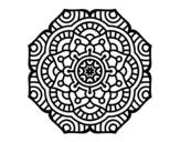 Disegno di Mandala fiore concettuale da colorare