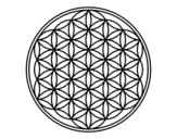 Disegno di Mandala fiore di vita da colorare