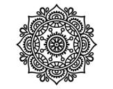 Disegno di Mandala per rilassarsi da colorare