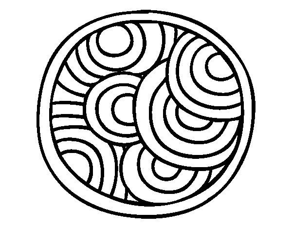 Mandalas Para Pintar Animal Bordeado De Paisaje On: Disegno Di Mandala Rotondo Da Colorare