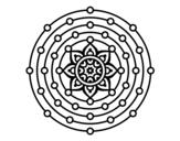 Dibujo de Mandala sistema solare