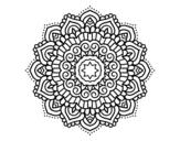 Disegno di Mandala stella decorata da colorare