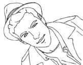 Disegno di Mario Casas con cappello da colorare