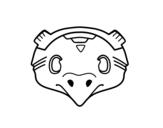Dibujo de Maschera messicana di uccello