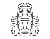 Dibujo de maschera mexicana dello rituali