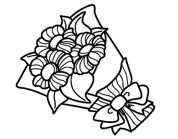 Mazzo Di Fiori Da Colorare: Disegno Di Mazzo Di Margheritina Da Colorare