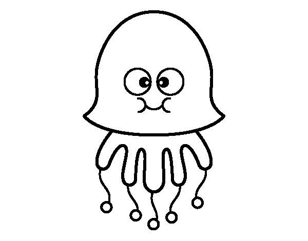 Disegno di medusa divertente da colorare for Medusa da colorare