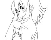 Disegno di Megpoid Gumi Vocaloid da colorare