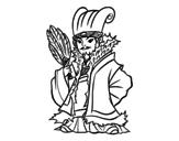 Disegno di Militare cinese Kong Ming da colorare