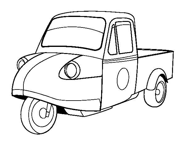 Disegno di Motocicletta furgone da Colorare
