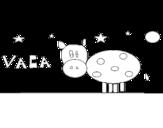 Disegno di Mucca e stelle da colorare