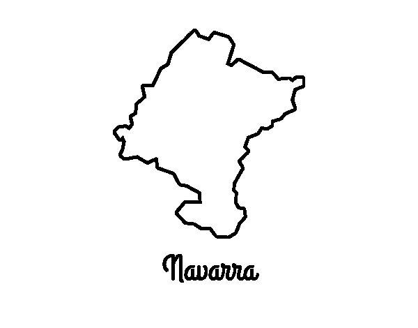 Disegno di Navarra da Colorare